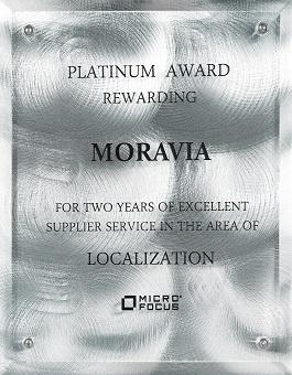 Micro Focus Platinum Award