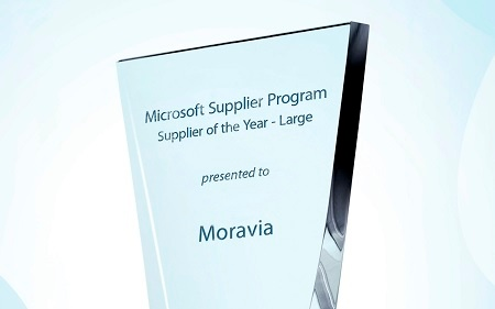 Moravia as Microsoft Supplier of the Year