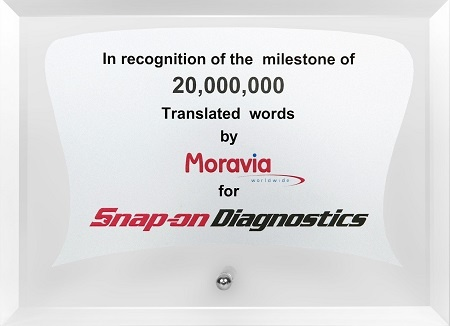 Snap-on Honors Moravia for Long-Term Quality Service