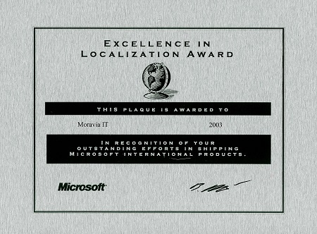 Microsoft Excellence in Localization