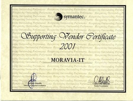 Symantec Supporting Vendor Certificate